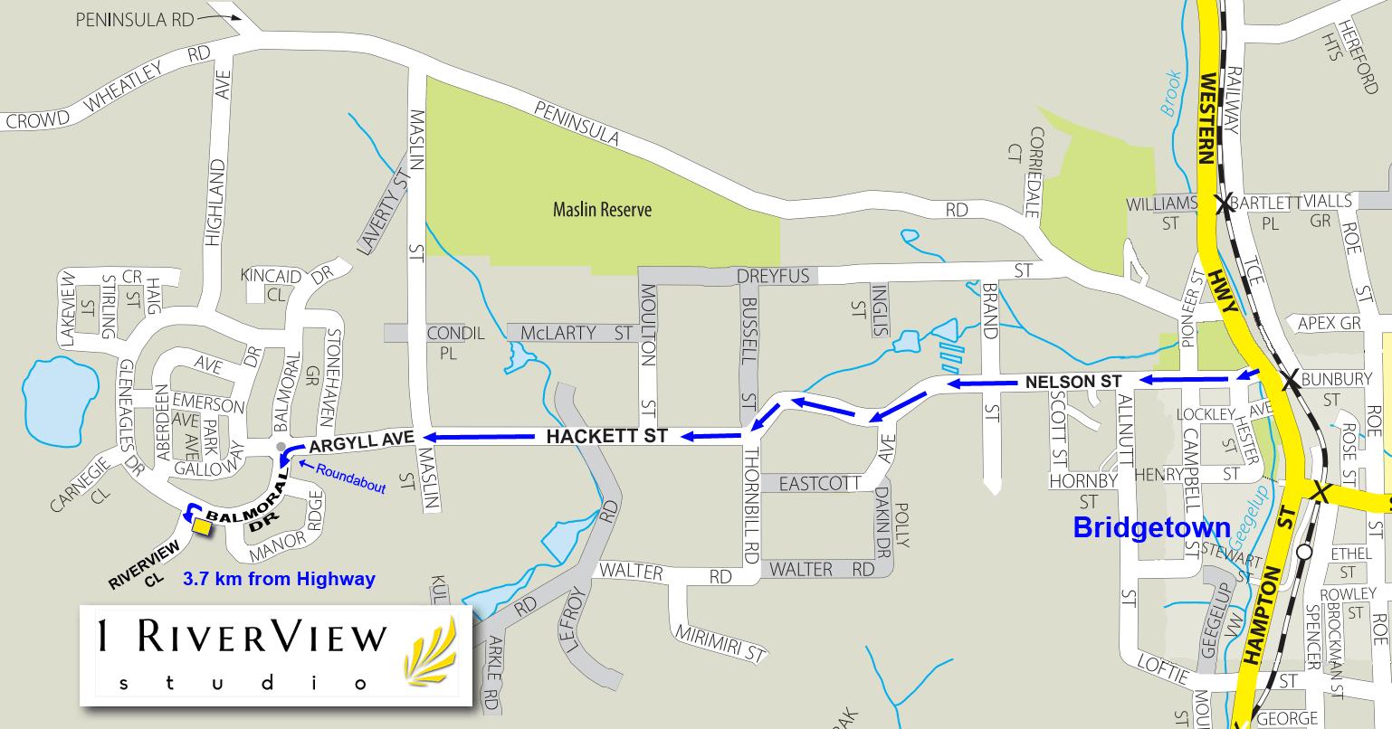 1RiverView Studio Location Map