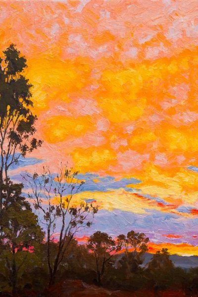 sunset-south-of-charters-towers-australian-landscape-oil-painting-by-michael-hodgkins