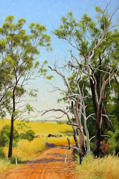 the-start-of-summer-australian-landscape-oil-painting-by-michael-hodgkins